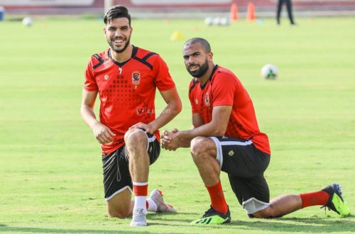 Al Ahly SC , الأهلي مع هورويا ، صورة، أحمد فتحي ، وليد أزارو